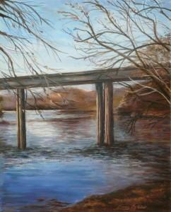 Missouri Bridge at Dusk - Bonny Botello