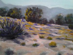 Purple and Yellow Field - Mercedes Guzman