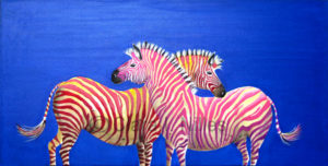 Diva Zebras on Royal Sapphire - Clara Nilles