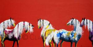 Painted Ponies on Spiced Cinnamon - Clara Nilles