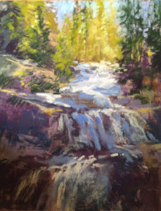 Waterfall Spring Melt - Frances Nichols