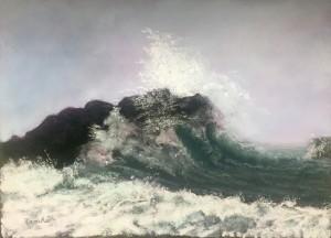 Original Framed Ocean Pastel Painting