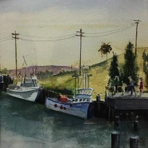 Original Framed Watercolor Painting