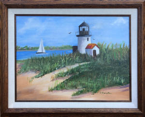 Framed Original Oil Painting, 12x16