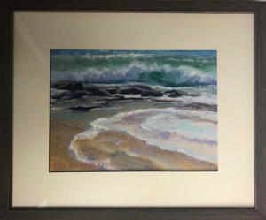 Framed Original Pastel Painting